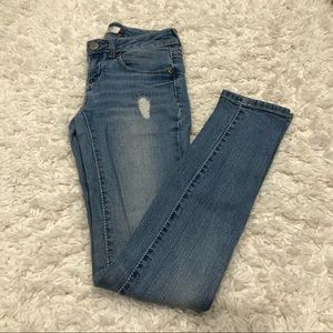 SO Light Wash Distressed Skinny Jeans Size 1